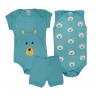 kit body bebe 3 pecas pagao urso turquesa vestir com amor