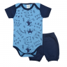 conjunto bebe body e shorts pagao envelope tigre marinho dino kids