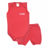 conjunto bebe body e shorts pagao envelope vermelho dino kids