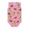 regata bebe frutas rosa dino kids
