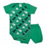 conjunto bebe body e shorts pagao envelope dinossauro verde dino kids