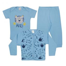 kit body bebe 3 pecas pagao tigre azul dino kids