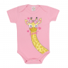 body bebe pagao girafa rosa vestir com amor