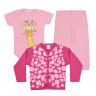 kit body bebe 3 pecas pagao girafa rosa e pink vestir com amor