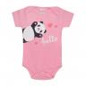 body manga curta infantil panda rosa vestir com amor