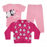 kit infantil 3 pecas pagao panda rosa e pink vestir com amor