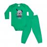 conjunto bebe body e calca pagao envelope campeao do papai verde vestir com amor