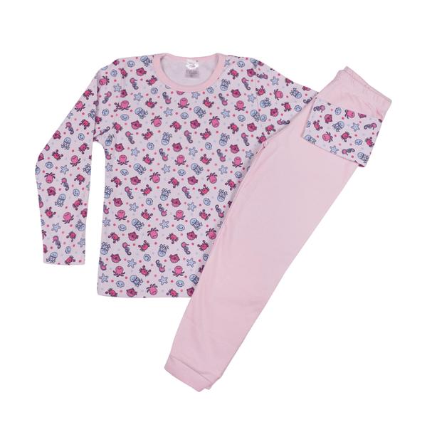 conjunto infantil blusa e calca suedine fundo do mar rosa c canaa