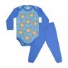 conjunto bebe body e calca pagao envelope urso royal e azul dino kids