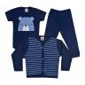 kit infantil 3 pecas pagao urso marinho vestir com amor