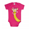 body infantil girafa pink vestir com amor