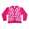 cardiga infantil girafa pink vestir com amor