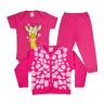 kit infantil 3 pecas pagao girafa pink vestir com amor