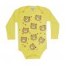 body bebe manga longa pagao urso amarelo vestir com amor