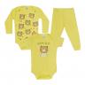 kit body bebe 3 pecas pagao urso amarelo vestir com amor