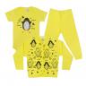kit body bebe 3 pecas pagao pinguim amarelo dino kids