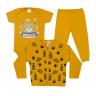 kit body bebe 3 pecas pagao urso mostarda dino kids