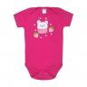 body bebe morango pink vestir com amor