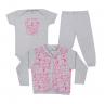 kit infantil 3 pecas pagao cute animal mescla vestir com amor