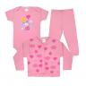 kit infantil 3 pecas pagao coelho rosa vestir com amor