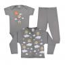 kit infantil 3 pecas pagao urso cinza vestir com amor