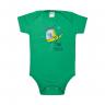 body bebe dinossauro verde vestir com amor