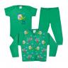 kit infantil 3 pecas pagao dinossauro verde vestir com amor