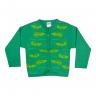 cardiga jacare mescla e verde vestir com amor
