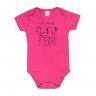 body bebe cute animal pink e preto vestir com amor