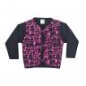 cardiga cute animal pink e preto vestir com amor