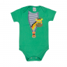 body bebe girafa verde e marinho vestir com amor