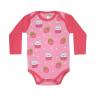 body bebe pagao envelope morango coral e rosa dino kids