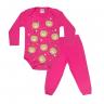 conjunto bebe body e calca pagao envelope urso pink vestir com amor