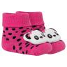 meias fun socks com pelucia de panda pink winston