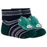 meias fun socks com pelucia de urso marinho e verde winston