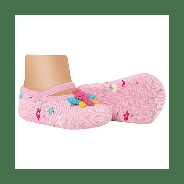 meias fun socks com pelucia de borboleta rosa winston