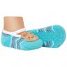 meias fun socks com pelucia de urso azul winston