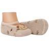 meias fun socks com pelucia de cachorro marrom winston