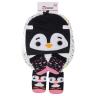 kit fun socks meias luvas e touca pinguim preto winston