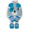kit fun socks meias luvas e touca cachorro azul winston
