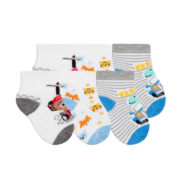 kit 3 meias fun socks bebe dinossauro winston