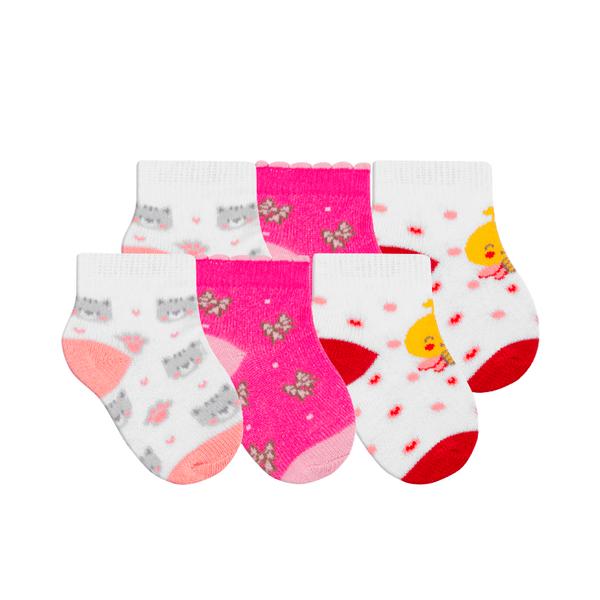kit 3 meias fun socks bebe urso winston
