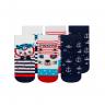 kit 3 meias fun socks marinheiro marinho winston