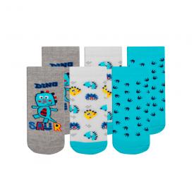 kit 3 meias fun socks dinossauro azul winston