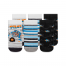 kit 3 meias fun socks piloto preto winston