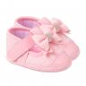 sapatilha bebe com laco rosa keto baby