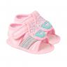 sandalia bebe com cupcake rosa keto baby