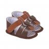 sandalia bebe masculino marrom keto baby