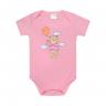 body bebe pagao urso rosa vestir com amor