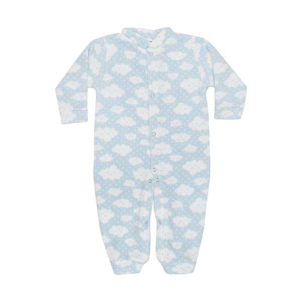 macacao bebe de soft com abertura entre pernas nuvem azul c canaa